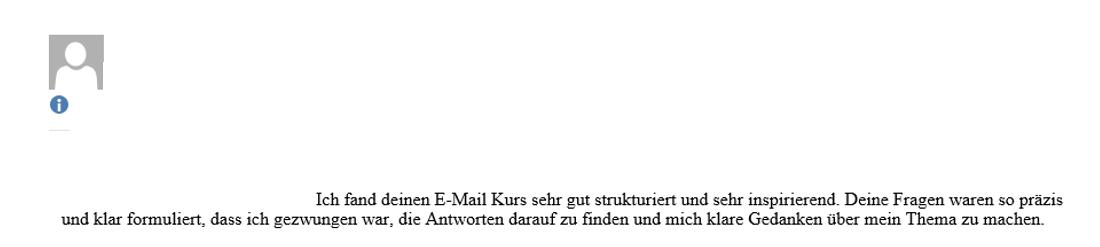 Feedback Krassi Hagedorn